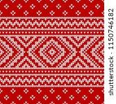 winter sweater fairisle design. ... | Shutterstock .eps vector #1150746182
