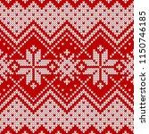winter sweater fairisle design. ... | Shutterstock .eps vector #1150746185