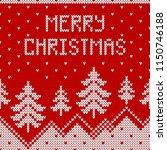 winter sweater design with...   Shutterstock .eps vector #1150746188