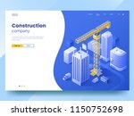 construction company landing... | Shutterstock .eps vector #1150752698