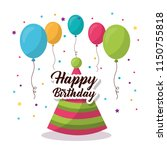 happy birthday card | Shutterstock .eps vector #1150755818