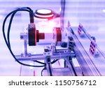 robotic vision sensor camera... | Shutterstock . vector #1150756712