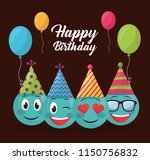 happy birthday card | Shutterstock .eps vector #1150756832