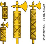 fasces  an ancent roman symbol... | Shutterstock .eps vector #1150758605