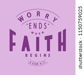 hand lettered worry ends when...   Shutterstock .eps vector #1150759025