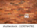 the number six painted onto a... | Shutterstock . vector #1150764782