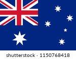 the original flag of australia... | Shutterstock .eps vector #1150768418
