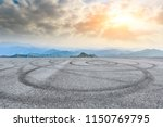 empty asphalt square car tire... | Shutterstock . vector #1150769795