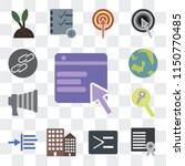 set of 13 simple editable icons ... | Shutterstock .eps vector #1150770485