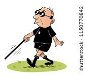 blind referee walking down the... | Shutterstock .eps vector #1150770842