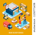 logistics isometric concept... | Shutterstock .eps vector #1150771658