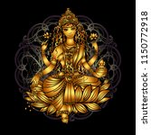 lakshmi is a hindu and... | Shutterstock .eps vector #1150772918