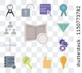 set of 13 simple editable icons ... | Shutterstock .eps vector #1150773782