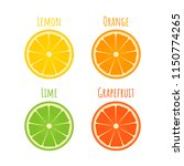 set of citrus icons in flat...   Shutterstock .eps vector #1150774265