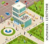 urban architecture public... | Shutterstock .eps vector #1150774448