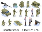 military special forces set of... | Shutterstock .eps vector #1150774778