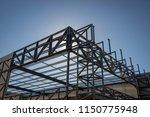 the steel framework of a... | Shutterstock . vector #1150775948