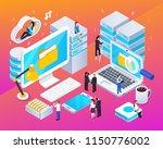 big data streams processing... | Shutterstock .eps vector #1150776002