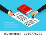 notary service execution of... | Shutterstock .eps vector #1150776272
