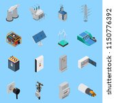 electricity isometric icons set ... | Shutterstock .eps vector #1150776392