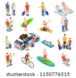 set of isometric people during... | Shutterstock .eps vector #1150776515