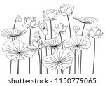 illustration  lotus vector | Shutterstock .eps vector #1150779065