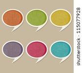retro speech bubbles | Shutterstock .eps vector #115077928