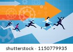 vector illustration. business... | Shutterstock .eps vector #1150779935