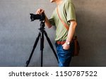 photographer men wearing casual ... | Shutterstock . vector #1150787522