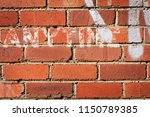 a faded painted sign with the... | Shutterstock . vector #1150789385