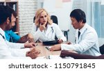 doctors meeting. diagnostic...   Shutterstock . vector #1150791845