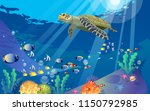turtles at the sea | Shutterstock .eps vector #1150792985