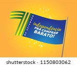 brazilian independence day logo ... | Shutterstock .eps vector #1150803062