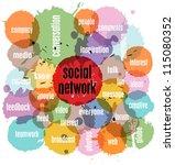 social network concept  vector... | Shutterstock .eps vector #115080352