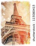 Tour Eiffel  Paris Postcard