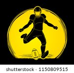 american football player action ... | Shutterstock .eps vector #1150809515