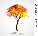 autumn abstract tree forming by ... | Shutterstock .eps vector #115081348