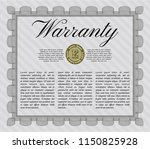 grey retro vintage warranty... | Shutterstock .eps vector #1150825928
