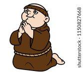 cartoon monk praying | Shutterstock .eps vector #1150827668