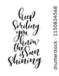 hand drawn word. brush pen... | Shutterstock .eps vector #1150834568