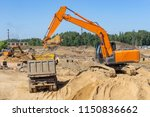 excavator at the construction... | Shutterstock . vector #1150836662