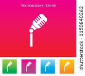microphone icon in colored... | Shutterstock .eps vector #1150840262