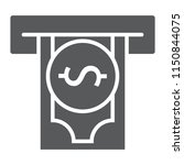 insert money glyph icon ... | Shutterstock .eps vector #1150844075