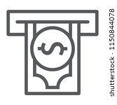 insert money line icon  finance ... | Shutterstock .eps vector #1150844078