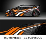 rally and drift car wrap design ... | Shutterstock .eps vector #1150845002