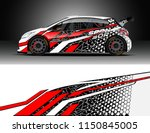 rally and drift car wrap design ... | Shutterstock .eps vector #1150845005