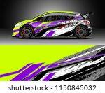rally and drift car wrap design ... | Shutterstock .eps vector #1150845032