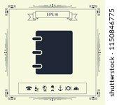 notebook  address  phone book... | Shutterstock .eps vector #1150846775