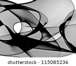 abstract generated black and... | Shutterstock . vector #115085236