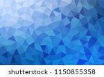 light blue vector polygonal... | Shutterstock .eps vector #1150855358